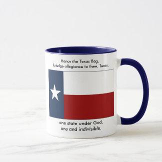 Mug Drapeau du Texas - engagement du Texas