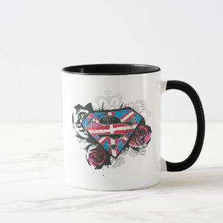 Mug Drapeau et roses britanniques de Supergirl