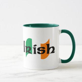 Mug Drapeau irlandais avec la police celtique