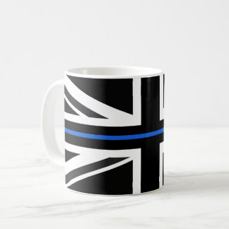 Mug Drapeau mince de Blue Line R-U