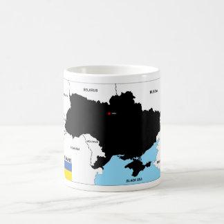 Mug drapeau politique de carte de pays de l'Ukraine