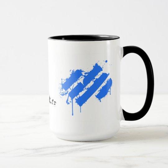 Mug Easysport Black coffee/Blue splatter