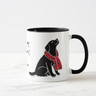 Mug Écharpe noire 2 de tartan de Labrador