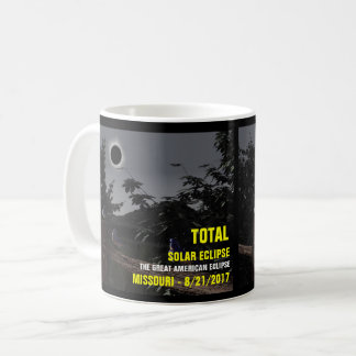Mug Éclipse solaire Missouri 8/21/2017