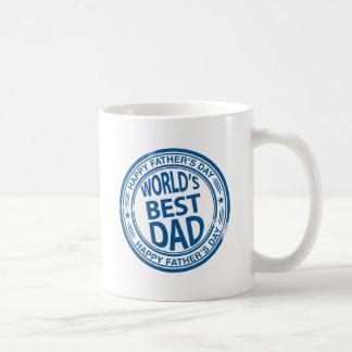Mug Effet de tampon en caoutchouc de fête des pères