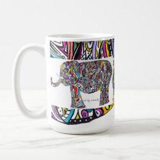 Mug éléphant abstrait