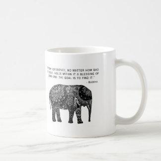 Mug Éléphant de sagesse de henné de Bouddha