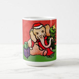 Mug Éléphant doux de fête de Père Noël de bande