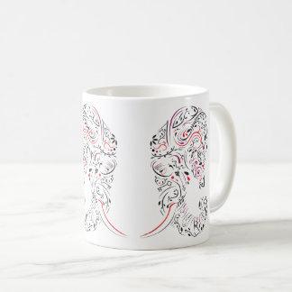 Mug éléphant fleuri