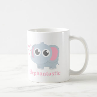 Mug Éléphant mignon de bébé avec amour pour des filles