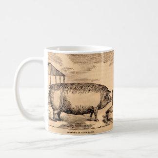 Mug Éleveur du 19ème siècle de ` d'impression de porc