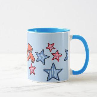 Mug Elmo et Grover parmi les étoiles