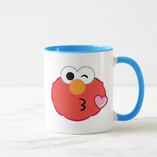 Mug Elmo font face à jeter un baiser