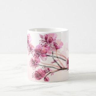 Mug Embranchez-vous avec les fleurs roses