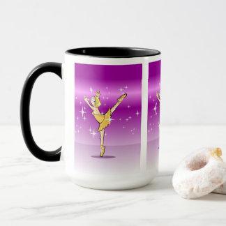 Mug Enfant danse ballet habillée de doré