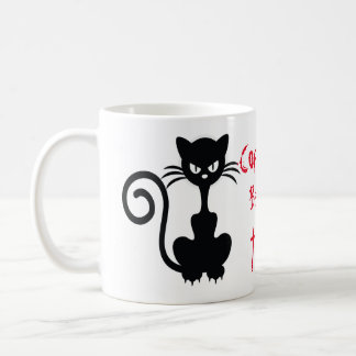 Mug Énonciations fâchées de chat noir