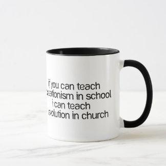 Mug Enseignez l'évolution dans l'église
