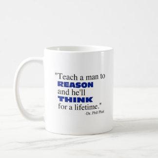 Mug Enseignez un homme à raisonner…