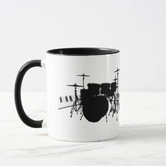 Mug Ensemble de tambour et clavier de piano