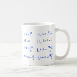 Mug équation de physique de maxwell