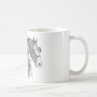 Mug Équipe de cheval de trait de Clydesdale