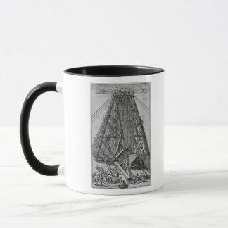 Mug Érection de l'obélisque égyptien antique