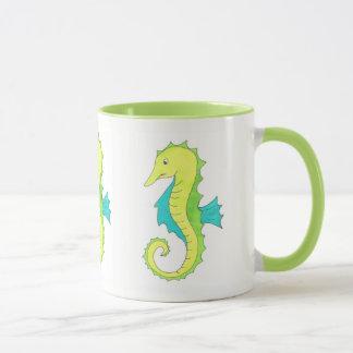 Mug Espèce marine verte d'océan de plage d'hippocampe