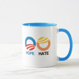 Mug ESPOIR (Obama) contre la HAINE (atout)