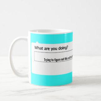Mug Essai de figurer cette chose de café