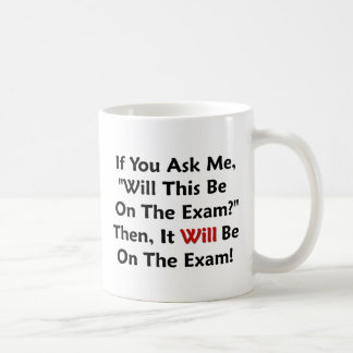 Mug Est-ce que ce sera sur l'examen ?