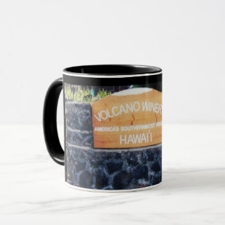 Mug Établissement vinicole de volcan d'Hawaï