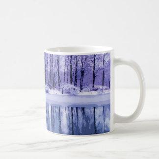 Mug Étang bleu d'hiver