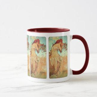 Mug Été par Alphonse Mucha