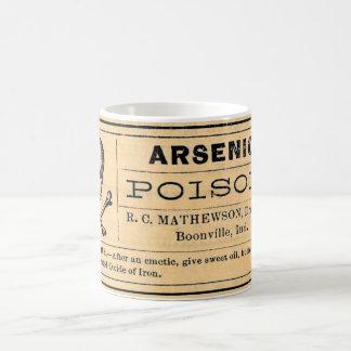 Mug Étiquette arsenical vintage de poison