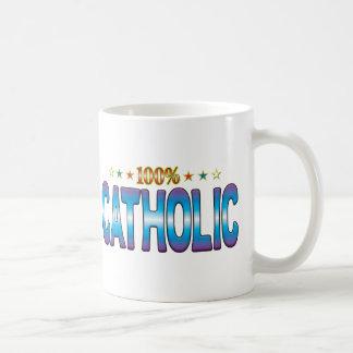 Mug Étiquette catholique v2 d'étoile