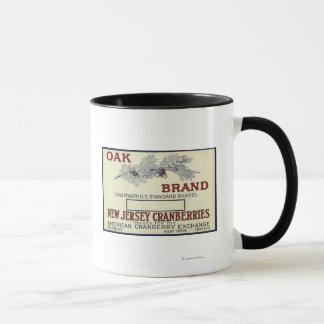 Mug Étiquette de canneberge de marque de chêne