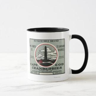 Mug Étiquette de canneberge de marque de colline de