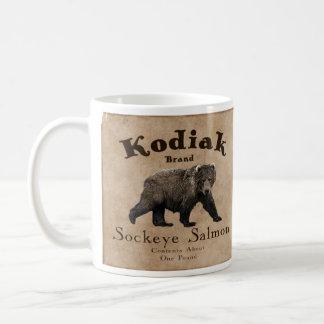 Mug Étiquette saumoné de Kodiak vintage