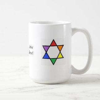 Mug Étoile de David d'arc-en-ciel
