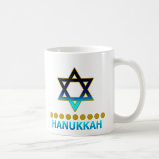 Mug Étoile de David Menorah de Hanoukka