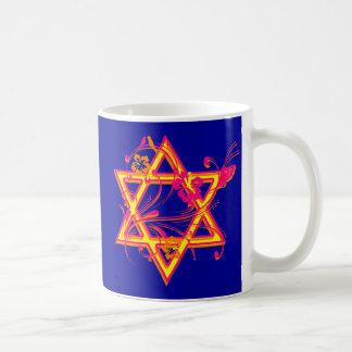 Mug Étoile de David tropicale au néon de ketmie