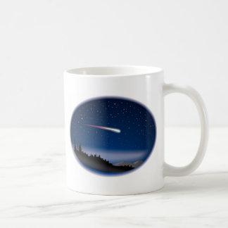 Mug Étoile filante au-dessus de paysage de nuit