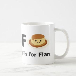 Mug F est pour Flan
