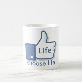 Mug Facebook aiment des Pouces- de la vie