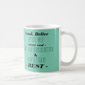 Mug Faites votre meilleur - Aqua avec la typographie