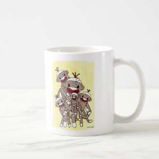 Mug Famille 04 de singe de chaussette