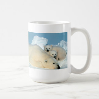 Mug Famille d'ours blanc