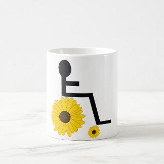 Mug Fauteuil roulant de tournesol