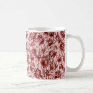Mug Faux motif rose et rouge de fourrure de léopard