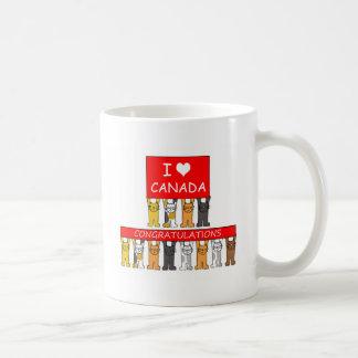 Mug Félicitations canadiennes de citoyenneté